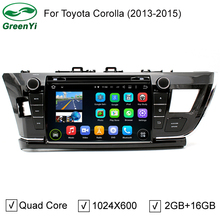 9inch Quad Core Android 5.1 Car PC DVD Player Stereo Fit For Toyota Corolla 2014 2015 Headunit GPS Navigation WiFi Radio