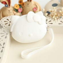 Mini Hello Kitty Cat Cute Female Coin Purse Friendly Silicone Wallets Fashion Lovely Women Cute Cartoon Money Bag Change Purse