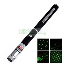 SKYLasers 2 in 1 532nm 50mw green laser pointer ,Laser pen with star head / kaleidoscope light & Gift box + Free shippiing