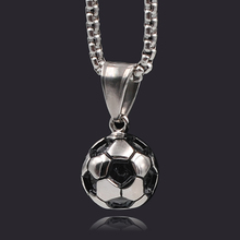 ATGO Rock Punk Sporty Men Boy Football Pendant Necklace Soccer for Man Student Favorite Jewelry Stainless Steel Friend Gift(China)