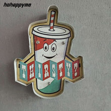 Thirsty Drink LED Signs Shopping Clubs Decorative Plates Plaque Vintage Metal Signs Luminous Funny Poster Wall Art Home Decor(China)