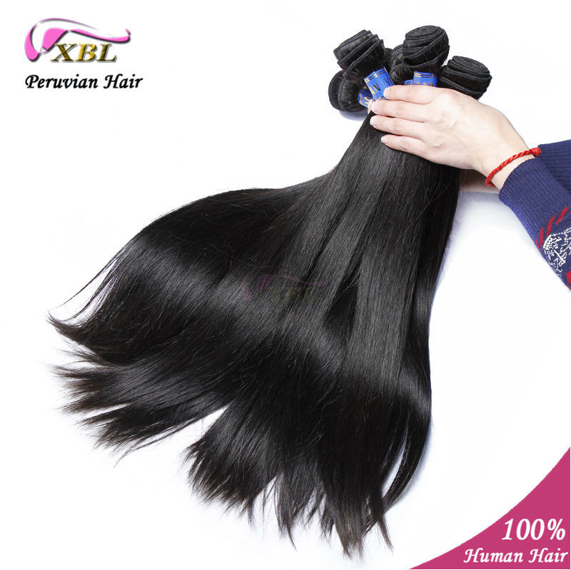 Virgin Peruvian hair extension natural straight,10-24 in stock unprocessed human hair product 10pcs/lot wholesale human hair<br><br>Aliexpress