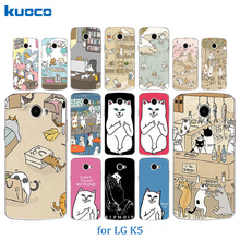 Buy Lovely Fashion Painted Cases LG K5 / K5 LTE X220 X220DS Q6 5.0 Case 5.0 inch Cover Cats Family Pattern Soft TPU Capa Funda for $1.21 in AliExpress store