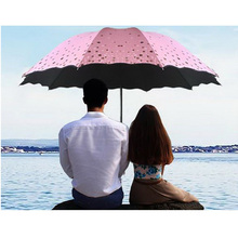 170370/107cm Three fold / dual use umbrella/Women/men Automatic Sun Umbrellas Anti UV Sunscreen Beach Parasol