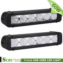 SUFE 2PCS 11'' 60W LED Off road Light Bar Offroad Tractor 4WD Work Driving Light for SUV ATV 4X4 Truck Spot/Flood Beam 40W 72W