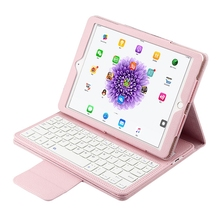 4 Color Detachable Quiet keystrokes Wireless Bluetooth Keyboard Box Stand easy to carry for iPad Air 1/2/Pro 9.7""