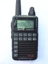 Puxing PX-2R (Updated plus version) Dual Receiver Two Way Radio 400-470Mhz Mini Compact Walkie Walkie, UHF TX/RX+VHF RX PX2R(China)