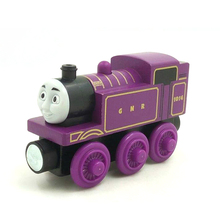W55 RARE New style of wood thomas and friend ryan children toys train Engine Magnetic Boy / Children Toy Christmas Present(China)
