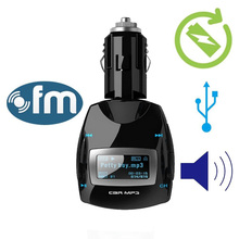 Blue LCD Car kit FM Transmitter MP3 Music Player Radio Stereo Auto Voiture Sans Fil USB SD MMC U-disk +Remote