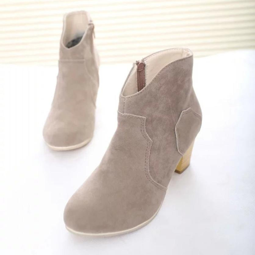 2017 New Brand Short Cylinder Boots Ankle Boots Best Gift Drop Shipping Dec29<br><br>Aliexpress