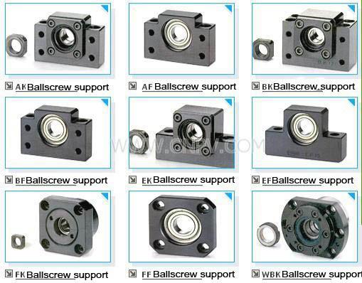 BK25 Fixed End Ballscrew Support w/ Locknut<br>