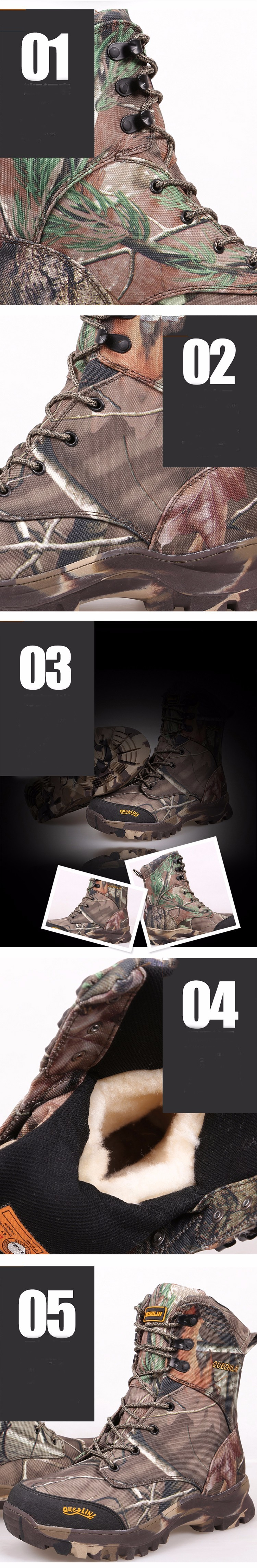 Male Winter Hunting Outfit Desert Boots Camouflage