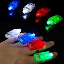 1 PC Funny LED Bright Party Glow Magic LED Laser Finger Ring Lights High Quality  LED Bulbs Finger Ring A2