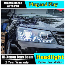 car styling For VW Passat headlights U angel eyes DRL 2011-2015 For VW Passat LED light bar DRL Bi-xenon Double lens HID KIT