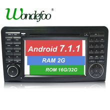 Android 7.1 CAR DVD player For Mercedes Benz GL ML CLASS W164 ML350 ML500 X164 GL320 car GPS stereo radio RAM 1G/2G ROM 16G/32G(China)