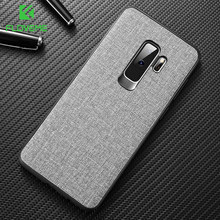 FLOVEME Cloth Case For Samsung S8 S9 Galaxy S9 S8 Plus Luxury TPU Cover For Samsung S10 Plus S10e Note 9 8 S7 Edge Coque(China)