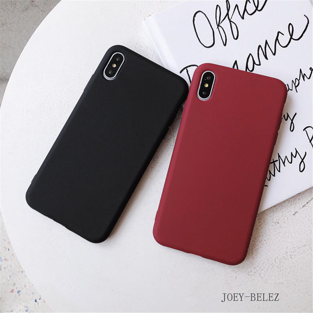Matte Phone Cases For iPhone 7 Candy Case For iPhone X 7 6 6S 8 Plus 6 6S Case Cover XR XS MXA Coque Silicon Fundas Capa Carcasa08