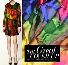 New Arrival Hand Dyeing Contract Color Square Pattern Jacquard Silk Fabric For DIY Fashion Cloth