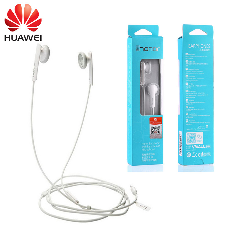 New Huawei Honor AM110 Stereo Headset MIC Wire Control For Huawei Honor P6 P7 P8 5x 5c Samsung Galaxy S5 HTC One iPhone 5S<br><br>Aliexpress