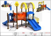 2015 Well Sold Children Playground CE Approved Outdoor Playground Equipment Anti-rust HTS8009