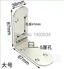Thickened 2.5mm Size 87*87*38mm stainless steel satin finish angle bracket L shape frame board support(China)