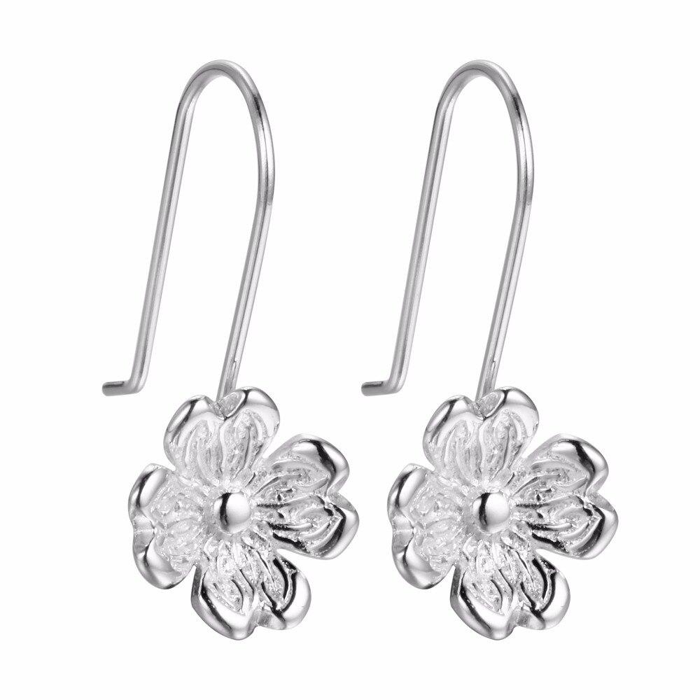 QIAMNI-925-Sterling-Silver-Lovely-White-Flower-Dangle-Drop-Hook-Earring-Jewelry-Party-Women-Girls-Pendientes