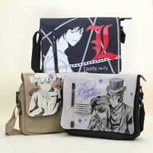 Anime Naruto Death Note Black Butler Canvas Handbag Messenger Bag Shoulder Bag Sling Pack Satchel Cosplay
