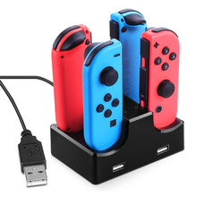 LED Charging Dock Station Charger Cradle For Nintendo Switch 4 Joy-Con Controllers 4 In 1 Charging Stand For Nintend Switch NS(China)