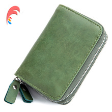Buy New Genuine Leather Women Men ID Card Holder Card Wallet Purse Credit Card Vintage Bank Business Card Holder Protector Organizer for $12.99 in AliExpress store