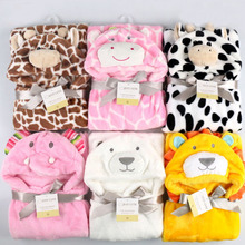 Lovely cute animal shape kid baby bath towel hooded baby towel bathrobe cloak baby blanket neonatal hold to be