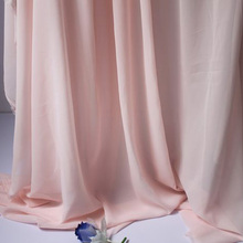 "Light Pink Chiffon Fabric Sheer Bridal Wedding Dress Lining Fabric Skirt 60"" Wide 5 Yards Per Lot Free Shipping"
