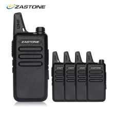 4pcs/lot Zastone ZT-X6 Portable Walkie Talkie UHF 400-470mhz Ham Radio Handheld Mini Radio Comunicador Transceiver(China)