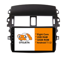Eight Core Android 7.1.2 OTOJETA car dvd FOR toyota corolla 2009+ HEAD STEREO Touch screen radio BT gps 1080p DVR/WIFI/3G/4G(China)