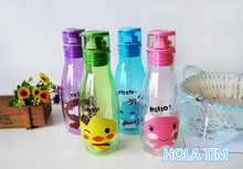 400ml Portable Ring Dust Cap Water Bottle 4 Color Plastic Cheap Sport Shatter proof Soda Space Leak-proof Water Kettle