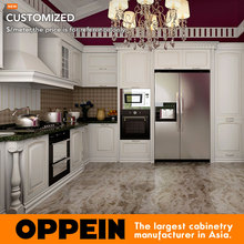 Guangzhou Manufacturer Classic White Solid Wood Wholesale Kitchen Cabinet (OP16-S01)