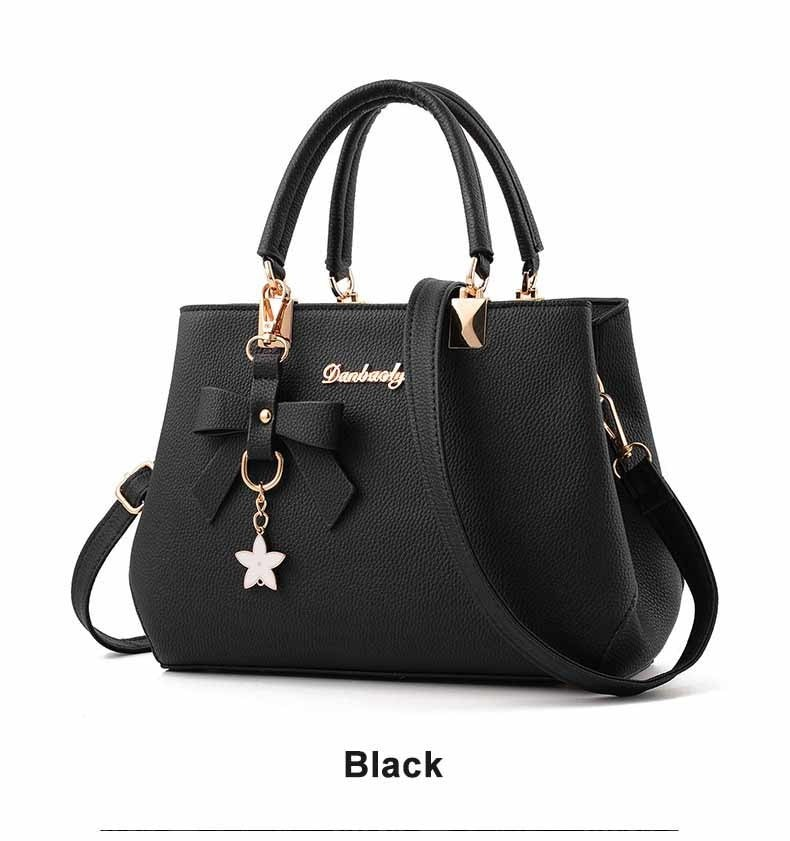 WENYUJH New 18 Elegant Shoulder Bag Women Designer Luxury Handbags Women Bags Plum Bow Sweet Messenger Crossbody Bag for Women 16