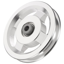 Universal Diameter 73/95/110/114mm Aluminium Alloy Bearing Pulley Wheel Cable Gym Equipment Part for Climbing Camping Pulley(China)