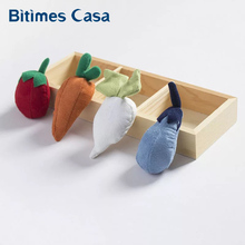 Carrot/tomato/eggplant/fruit Textile Cotton Designs Creative Style Mini 3D Hand-made Refrigerator Fridge Magnets Home Decoration
