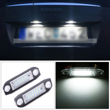 2Pcs Car 18 LED Licence Number Plate Light Lamp For Volvo S40 S60 S80 XC60 XC70 XC90 White(China)