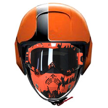 Motorcycle Helmet Open Face Goggles Mask Street Urban Motorbike Motorcycle Glasses fit Shark Helmet Raw Street Orange