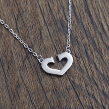 New 925 Sterling Silver Heart Necklaces & Pendants Pure Sterling Silver Choker Necklace Jewelry Collar Colar de Plata