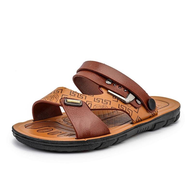 907c07603497 LAISUMK Men S Fisherman Sandals Sliders Slides Summer Cow Genuine ...