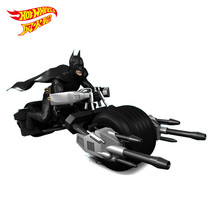Hot wheels mini moto batmobile motorcycle miniatures scale models batman chariots slot car toys for children(China)