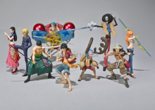 Anime One Piece Action Figures 2 Years Later Luffy Zoro Sanji Usopp Brook Franky Nami Robin Chopper 9pcs/set