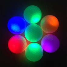 1 PCS Night Light Gold Ball Light-up Flashing Night Light Glowing Fluorescence Golf Balls Golfing Accessories