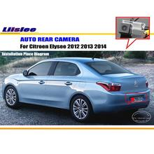 Liislee Car Rear Reverse Camera For Citroen Elysee 2012 2013 2014 / Back Up Parking Camera / NTST PAL / License Plate Light(China)