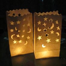 10pcs/lot Heart Light Holder Luminaria Paper Lantern Candle Bag For Party Home Outdoor Xmas Birthday Wedding Boda Decoration