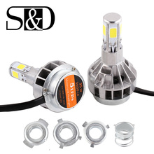 H4 Motorcycle LED Headlight Bulbs BA20D Scooter flasher fog lights for Suzuki ktm exc cafe racer harley motorcycle D020