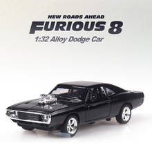 1:32 Scale 16CM Fast & Furious7 Alloy Cars Dodge Pull Back Diecast Model Toy with sound light Collection Gift toy For Boys Kids