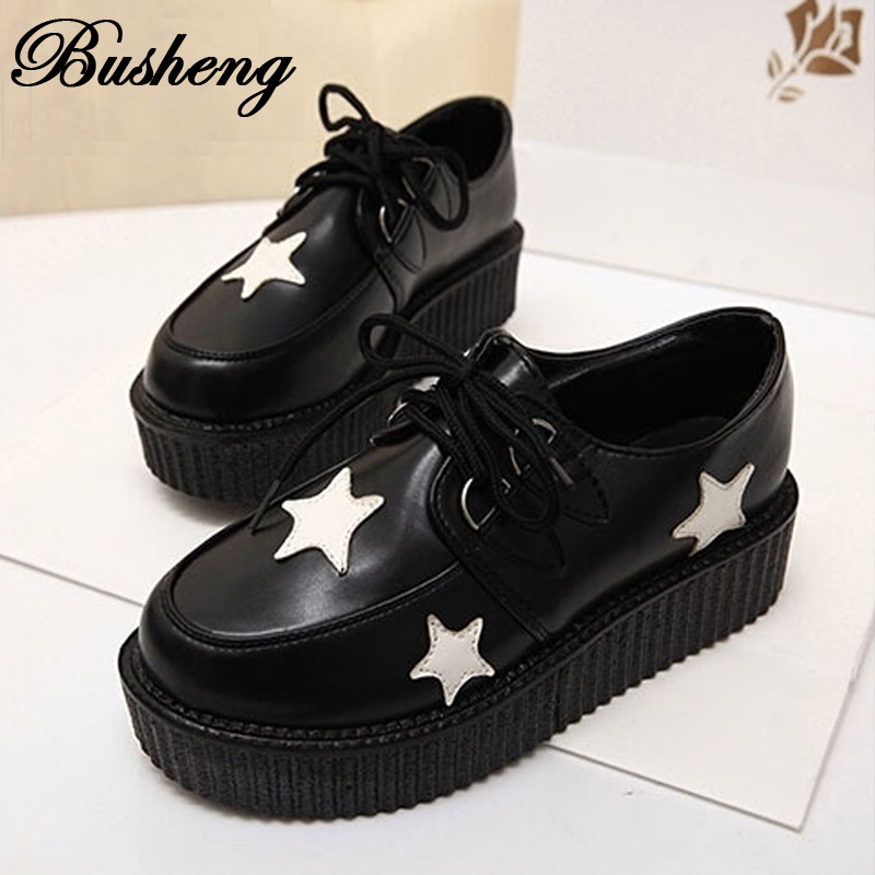 Fashion Black Suede British Goth Punk Creepers Flats Hot Sale Lace up Skull American USA Flag Boat Shoes Summer Autumn<br><br>Aliexpress